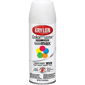 Colormaster Indoor/Outdoor Aerosol Paint 12oz-Bright White Satin 1000A-53517