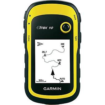 Outdoor GPS Geocaching, Hiking Garmin e-Trex10 World GPS, GLONASS, sprayproof
