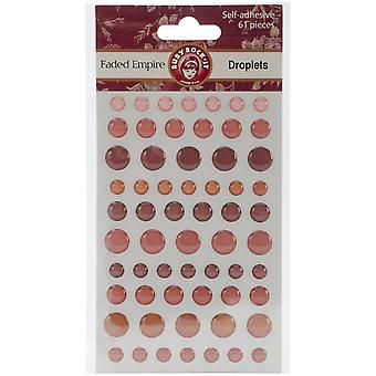 Faded Empire Self-Adhesive Droplets 61/Pkg- FDE46