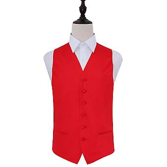 Red Plain satijn bruiloft gilet