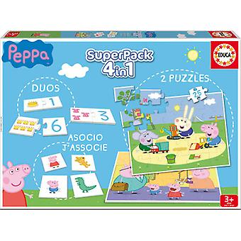 Educa Peppa Pig Superpack (Spielzeuge , Brettspiele , Puzzles)