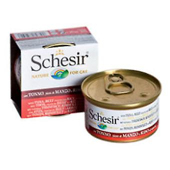 Schesir Tuna and Ox With Rice In Water (Cats , Cat Food , Wet Food)