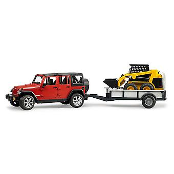Bruder Jeep Wrangler Unlimited Rubicon Met Cat Lader
