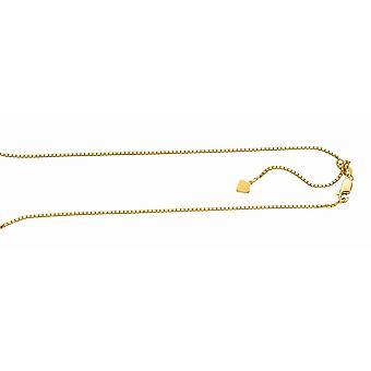 925 Sterling sølv gull-blinket finish 1,4 mm Sparkle-cut justerbar boks kjede hummer låsen anklet