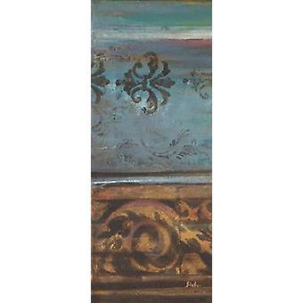 Blaue eklektischen V Poster Print von Patricia Pinto