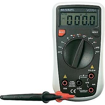 Handheld multimeter digital VOLTCRAFT VC170-1 Calibrated to: ISO standards CAT III 250 V Display (counts): 4000