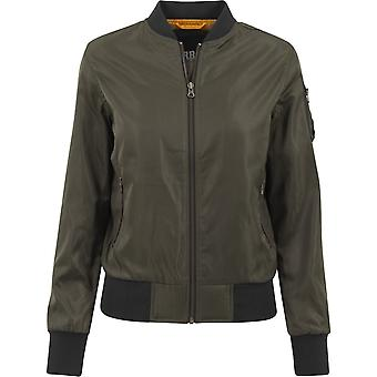 Urban classics ladies - NYLON TWILL BOMBER jacket dark olive