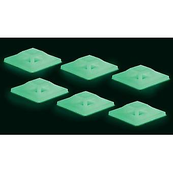 Cable mount 4x thread Green (long luminescence)