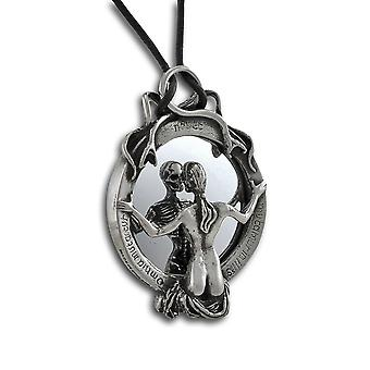Alchemy Gothic Skeleton Reflection Mirror Necklace
