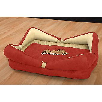Snoozzzeee Dog Bow Bed In Zipped Bag Cherry 48cm