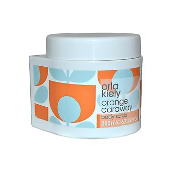 Orla Kiely Body Scrub 200ml Orange Caraway