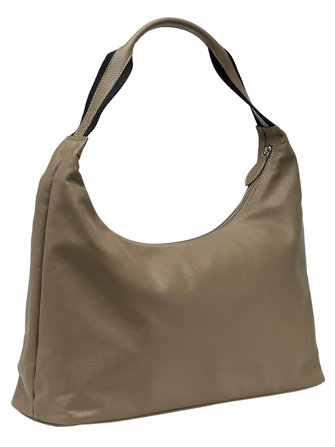 Burgmeister ladies shoulder bag T207-115B leather taupe