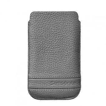 SAMSONITE CLASSIC Mobile bag leather's Gray to tex iP4