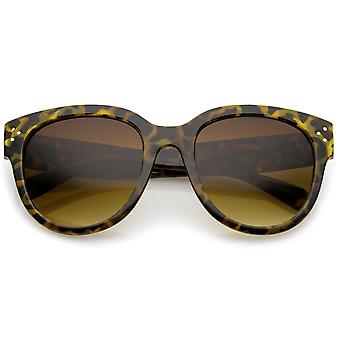 Damen Oversize Horn umrandeten große Tempel Cat Eye Sonnenbrille 56mm