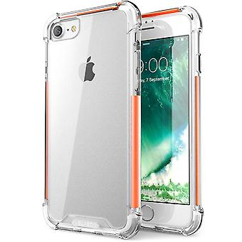 7 i-Blason-iPhone Plus caja a prueba de golpes caso protectora-naranja