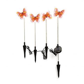 Konstsmide 4 Butterfly Solar Lights
