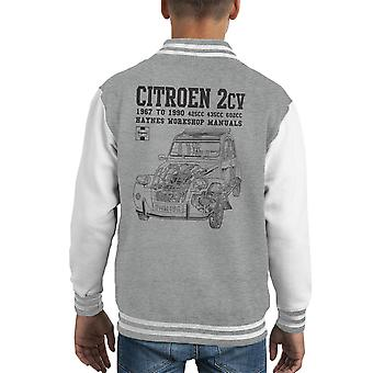 Haynes Owners Workshop Manual Citroen 2CV Black Kid's Varsity Jacket