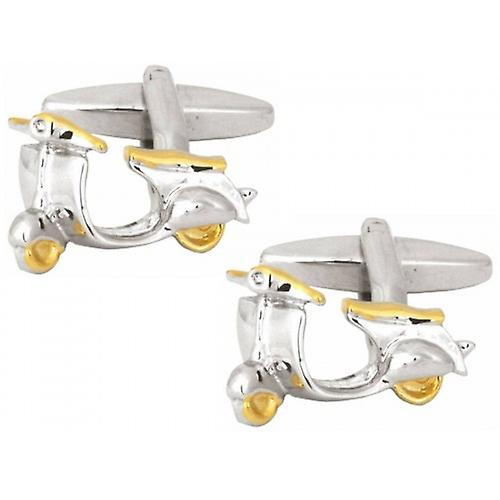 Zennor 2 Toned Scooter Cufflinks - Silver/Gold