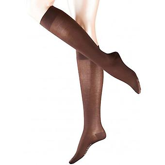 Falke Cotton Touch Knee High Socks - Dark Brown