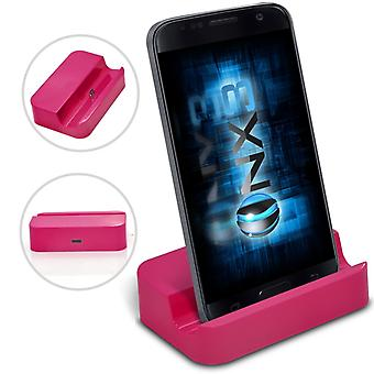 BLU Studio G HD Desktop USB Standfuß Daten Sync Dock Ladestation (Pink)