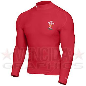 UNDER ARMOUR wales rugby coldgear mock kids [red]