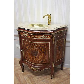 sideboard antique style chest marble sink hose gold MkBa0063BgWb