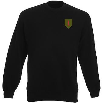 US Army infanteridivision 1 broderad Logo - Heavyweight tröja