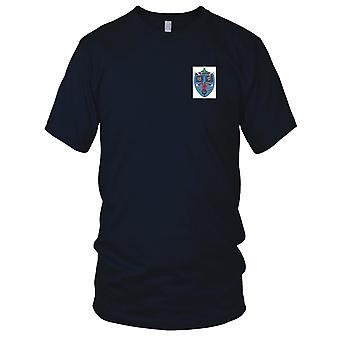 E.U. da Marinha USS MSO-422 Patch Bordado agressivo - Mens T-Shirt