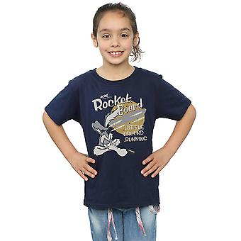 Looney Tunes Girls Wile E Coyote Rocket Board T-Shirt