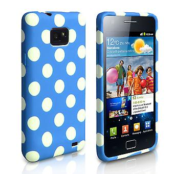 Yousave accessoires Samsung Galaxy S2 Polka Dot Gel Case - blauw