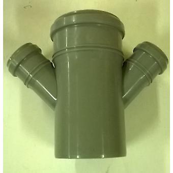 Fallrohr 110 mm - Double Zweig mit zwei 45 Grad 50 mm Buchten Push-Fit - 4