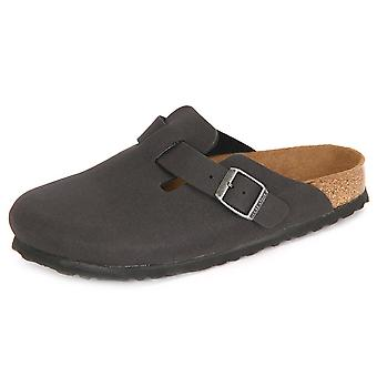 Birkenstock Boston Vegan Anthracite Mikrofaser 259543 universal  women shoes