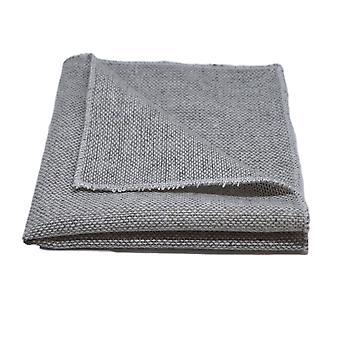Highland Weave Stonewashed Light Grey Pocket Square, Handkerchief
