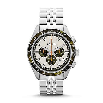 Fossil Mens Chronograph Watch Stainless Steel Strap White Dial CH2913
