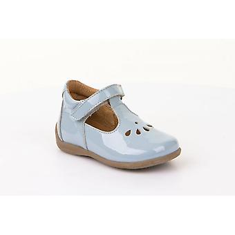 Froddo G2140035-5 Powder Blue Patent Leather T-Bar Shoes