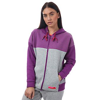 Womens adidas Stellasport Zip Hoody In Pop Purple / Medium Grey Heather