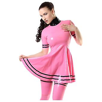 Vestover bundet Mookys Latex gummi Dress.