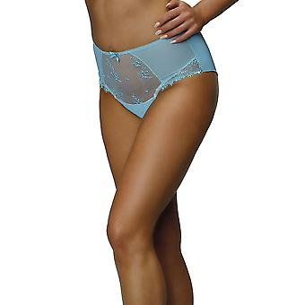 Nessa P2 Women's Alissa Blue Solid Colour Knickers Panty Full Brief