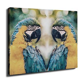 Color Feathers Wall Art Canvas 50cm x 30cm | Wellcoda