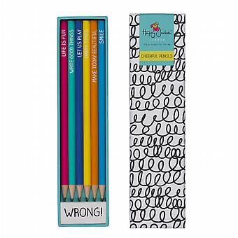 6 Cheerful Pencils by Happy Jackson / Wild & Wolf