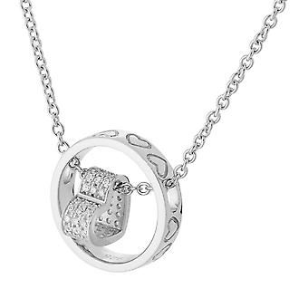 Orphelia Silver 925  Necklace Heart In Circle  ZK-7023