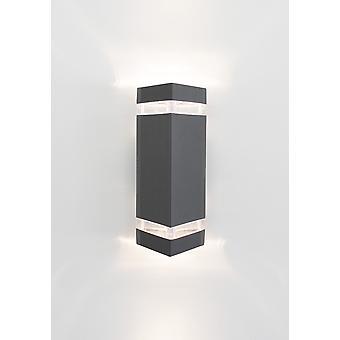 Muur lamp van grote UpDown 2 GU10 2x50W IP54 grijs 10656