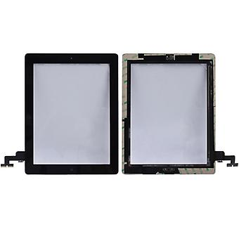 Touch screen display Home button for Apple iPad 2 + adhesive pad black