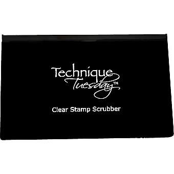 Technique Tuesday Clear Stamp Scrubber-4.25