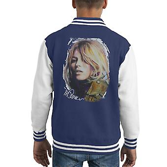 Sidney Maurer Original Portrait Of Kate Moss Army Jacket Kid's Varsity Jacket