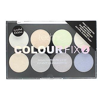 Technic färg Fix 2 pulver Highlighter paletten Limited Edition