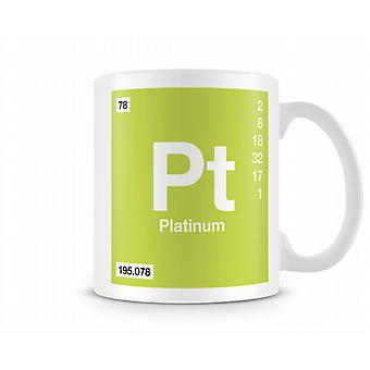 Element Symbol 078 Pt - Platinum Printed Mug