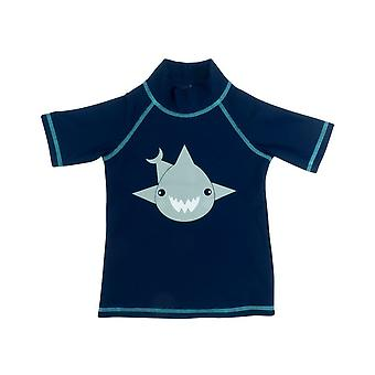 Banz Kids UV Short Sleeved Rash Top - Shark - Navy