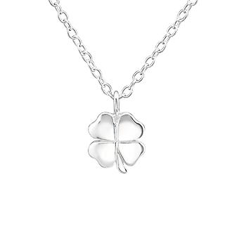 Lucky Clover - 925 Sterling Silver Plain Necklaces - W37626x