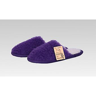 Slipper wool purple 44/45